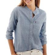Levi's® Long-Sleeve Chambray High-Low Shirt