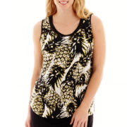 Worthington® Mesh-Inset Tank Top - Plus