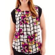 Worthington® Sleeveless Colorblock Tunic Top - Plus