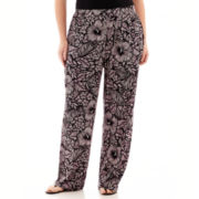 Worthington® Wide-Leg Soft Pants - Plus