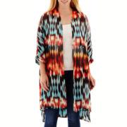 a.n.a® Short-Sleeve Woven Kimono Duster - Plus