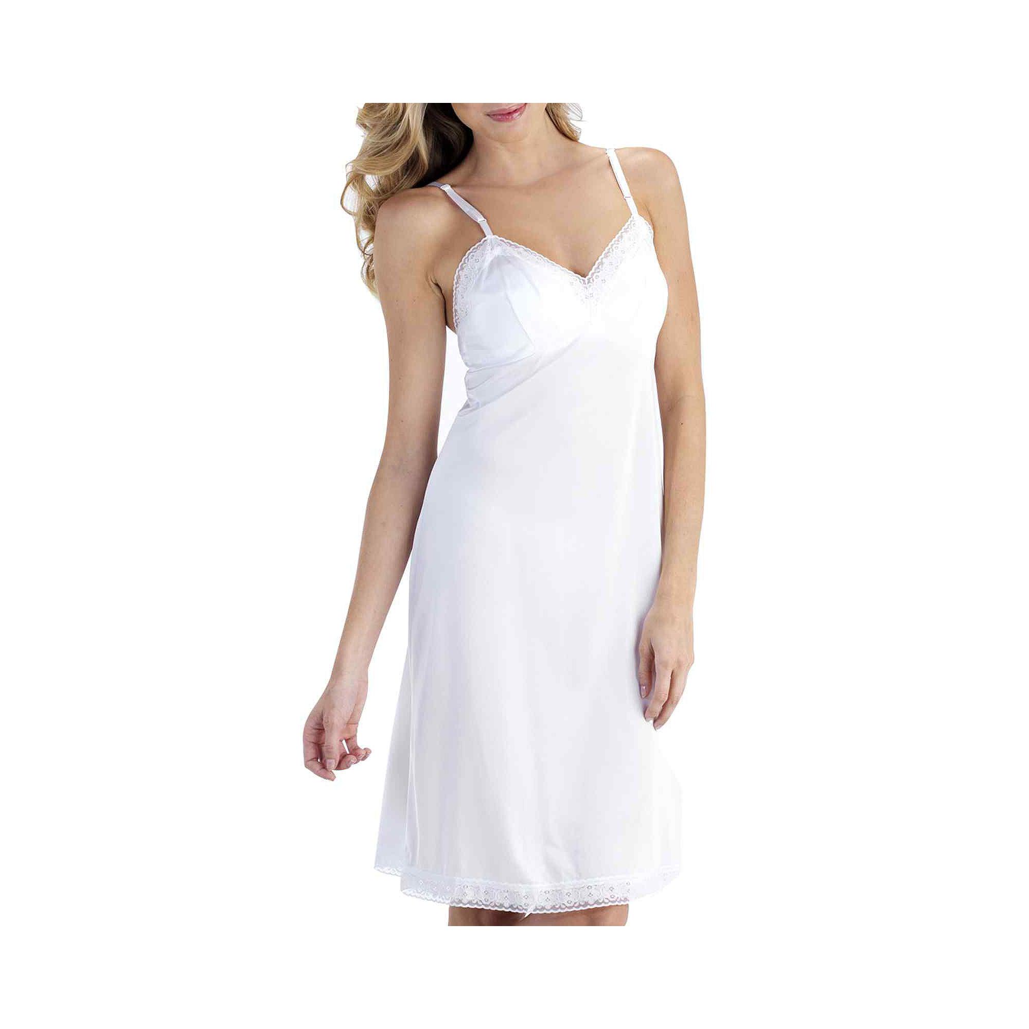 """Vanity Fair Full Slip,  Rosette Lace"""" 26 plus size,  plus size fashion plus size appare"""