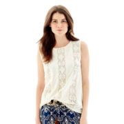 Joe Fresh™ Sleeveless Crochet Top