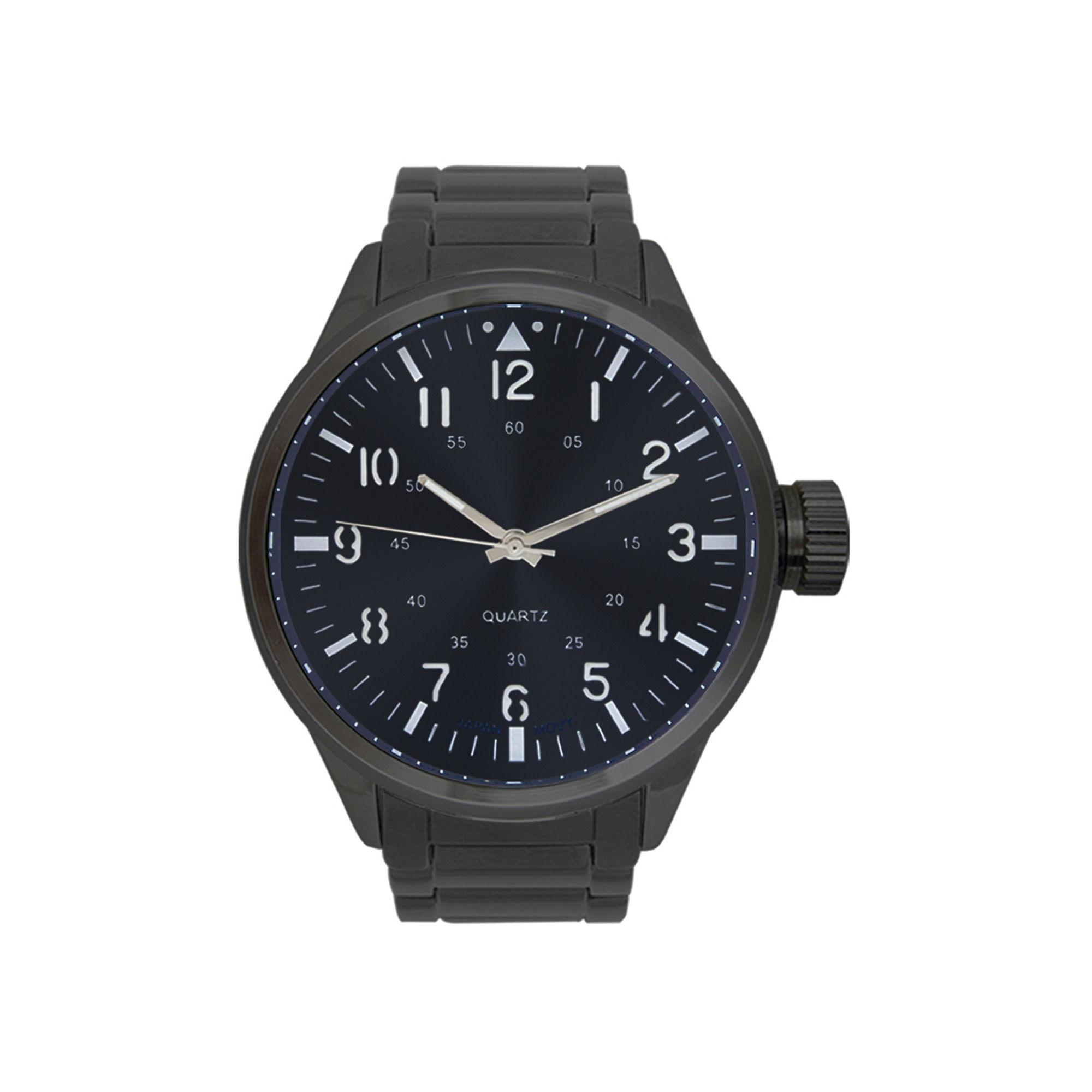 Rocawear Men's Gunmetal Blue Dial Bracelet Watch Rm0101Bk1-426