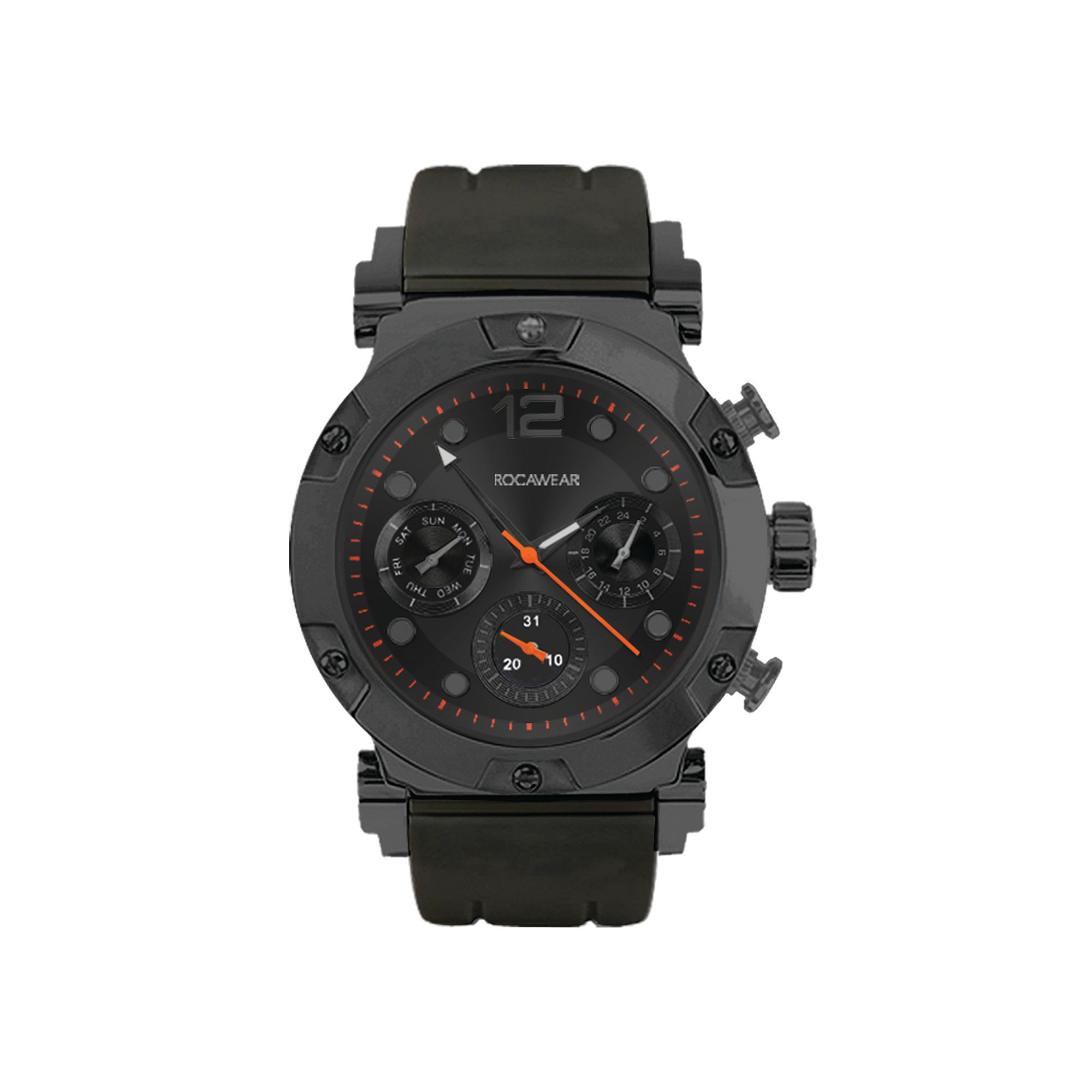 Rocawear Men's Gray Silicone Strap Watch Rm0213Gy1-328