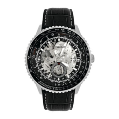 jcpenney.com | Rocawear Men's Black And Silver Skeleton Dial Strap Watch Rm7612S1-362