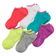 Xersion™ 6-pk. Athletic No-Show Socks - Girls