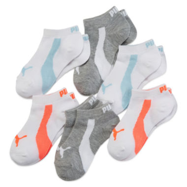 jcpenney.com | Puma® 6-pk. Neon Low-Cut Socks - Girls