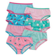 Okie Dokie® 7-pk. Cotton Chevron Briefs - Toddler Girls 2t-5t
