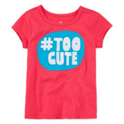 Okie Dokie® Short-Sleeve Appliqué Tee - Toddler Girls 2t-5t