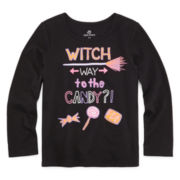 Okie Dokie® Long-Sleeve Seasonal Tee - Preschool Girls 4-6x