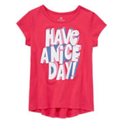 Okie Dokie® Short-Sleeve High-Low-Hem Graphic Tee - Preschool Girls 4-6x