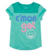 Okie Dokie® Short-Sleeve Football Tee - Preschool Girls 4-6x