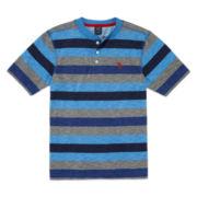 U.S. Polo Assn.® Short-Sleeve Stripe Henley Tee - Boys 8-20