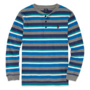 U.S. Polo Assn.® Long-Sleeve Stripe Tee - Boys 8-20