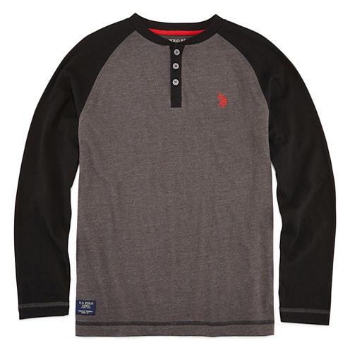 U.S. Polo Assn.® Long-Sleeve Raglan Henley Tee - Boys 8-20