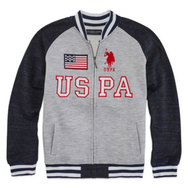 jcpenney.com | U.S. Polo Assn.® Fleece Bomber Jacket - Boys 8-20