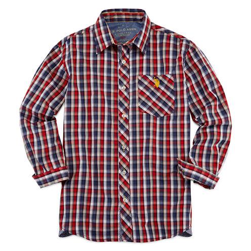 U.S. Polo Assn.® Long-Sleeve Woven Shirt - Boys 8-20