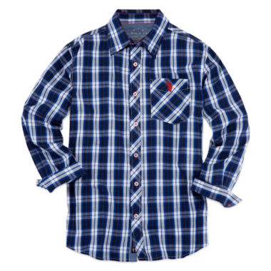 jcpenney.com | U.S. Polo Assn.® Long-Sleeve Woven Shirt - Boys 8-20