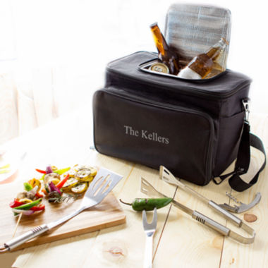 jcpenney.com |  Personalized Tailgate Cooler with Grill Tool Set