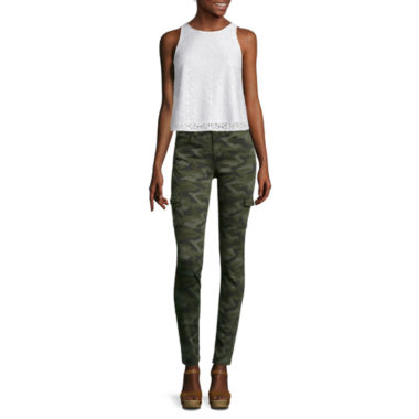 jcpenney.com | Arizona Sleeveless Lace Top or Twill Cargo Jeggings