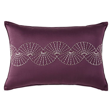 Jcpenney Red Decorative Pillows : Liz Claiborne Kimono Oblong Beaded Decorative Pillow - JCPenney