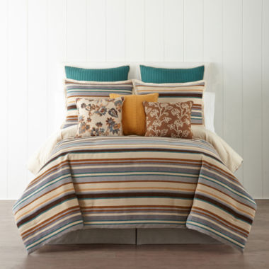 jcpenney.com | JCPenney Home™ Tapestry Stripe 4-pc. Comforter Set & Accessories