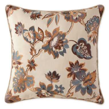 jcpenney.com | JCPenney Home™ Tapestry Stripe Embroidered Square Decorative Pillow