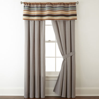 jcpenney.com | JCPenney Home™ Tapestry Stripe 2-Pack Rod-Pocket/Back-Tab Lined Curtain Panels