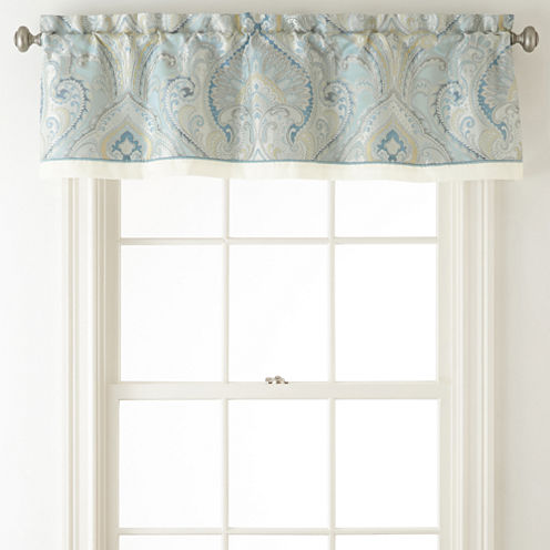 Home Expressions™ Lucerne Rod-Pocket/Back-Tab Lined Tailored Valance