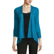 Worthington® 3/4-Sleeve Textured Flyaway Cardigan