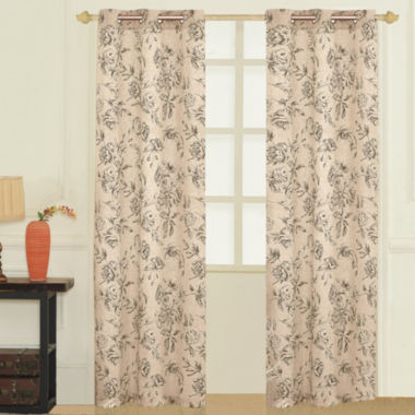 jcpenney.com | Fiona Grommet-Top 2-Pack Curtain Panels