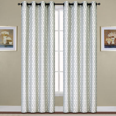 jcpenney.com | United Curtain Co. Oakland Woven Grommet-Top Curtain Panel
