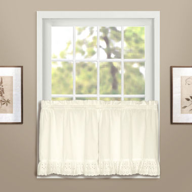 jcpenney.com | United Curtain Co. Vienna Rod-Pocket Window Tiers