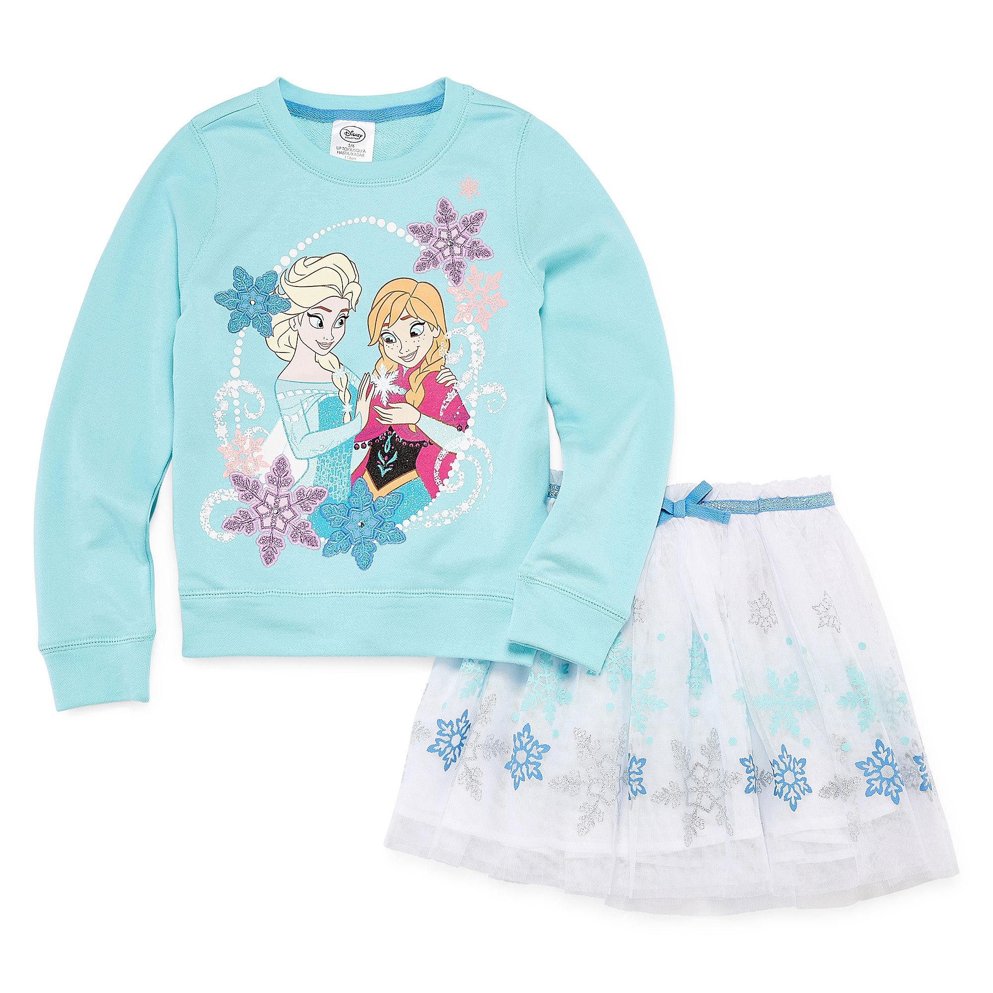 Disney 2-pc. Frozen Long-Sleeve Top and Skirt Set - Girls plus size,  plus size fashion plus size appare