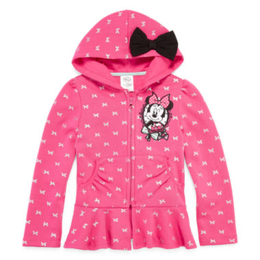 jcpenney.com | Disney Collection Minnie Fleece Jacket - Girls