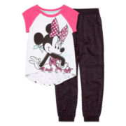 Disney® 2-pc. Minnie Short-Sleeve Tunic and Pants Set - Girls