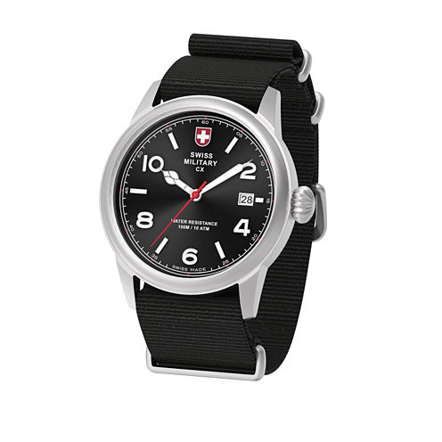 Swiss Military By Charmex Vintage Mens Black Strap Watch-78335_8_B