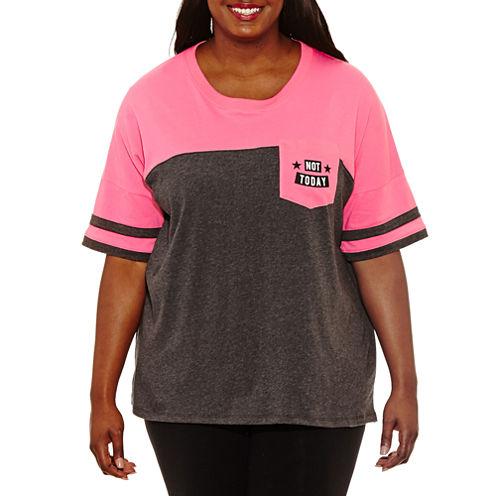 "Flirtitude ""Not Today"" Graphic T-Shirt- Juniors Plus"
