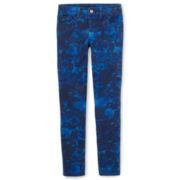 Total Girl® Rose-Print Skinny Jeans - Girls 6-16