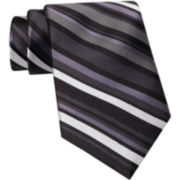 Claiborne Satin-Stitch Silk Tie
