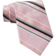 Claiborne Repp Stripe Silk Tie