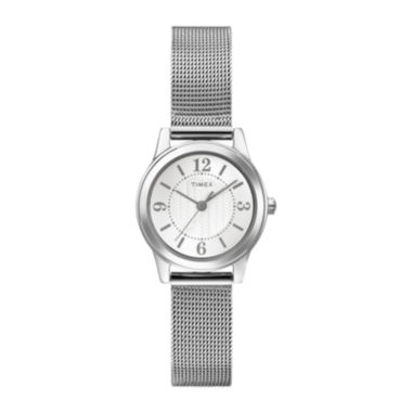 jcpenney.com | Timex® Womens Silver-Tone Stainless Steel Mini Modern Watch T2P4577R