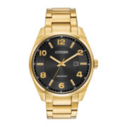 Citizen® Eco-Drive™ Exclusive Mens Gold-Tone Stainless Steel Watch