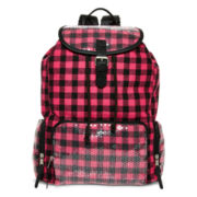 Olsenboye® Pink Buffalo Sequined Plaid Backpack