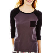 Sleep Riot Long-Sleeve Raglan Sleep Tee