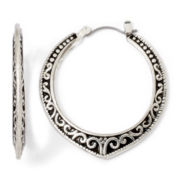 Arizona Textured Hoop Earrings