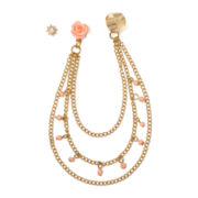 Carole Drape-Chain Earcuff Earrings