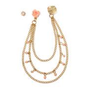 Carole Drape-Chain Earcuff Earrings