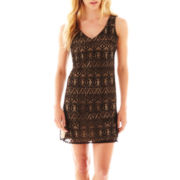 Bisou Bisou® Sleeveless V-Neck Lace Dress